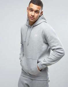 Серое худи с вышитым логотипом Nike 804346-063 - Серый