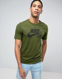 Зеленая футболка с логотипом Nike SB 821946-331 - Зеленый