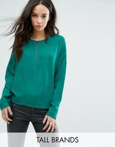 Блузка на молнии спереди Noisy May Tall - Зеленый