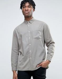 Повседневная оксфордская рубашка цвета хаки в стиле oversize ASOS - Зеленый