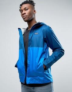2-цветная куртка из водонепроницаемого нейлона на молнии Patagonia Torrentshell - Синий