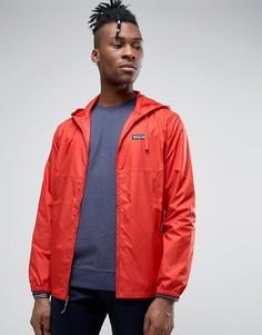 Нейлоновая красная куртка на молнии с капюшоном Patagonia - Красный