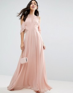 Кружевное платье макси ASOS - Бежевый