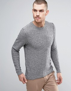 Серый джемпер с карманом Casual Friday - Серый