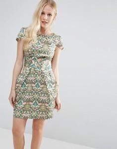 Платье-тюльпан с принтом Closet - Мульти