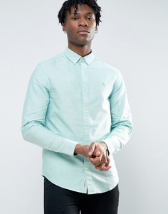 Зеленая узкая оксфордская рубашка на пуговицах Original Penguin - Зеленый
