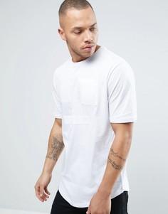 Длинная футболка с шелковой нашивкой Religion - Белый