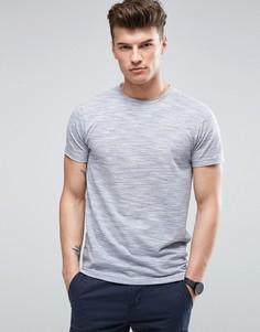 Фактурная меланжевая футболка D-Struct - Синий