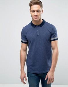 Узкая футболка-поло Esprit - Темно-синий