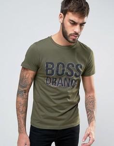 Зеленая узкая футболка с логотипом BOSS Orange by Hugo Boss - Зеленый