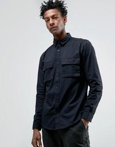 Рубашка стандартного кроя с карманами в стиле милитари Only & Sons - Черный