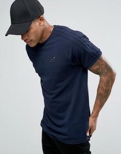 Синяя футболка с тремя полосками adidas Originals California BK7571 - Синий