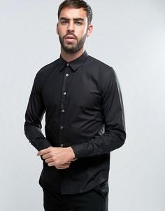 Узкая черная рубашка PS by Paul Smith - Черный