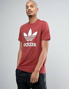 Красная футболка с логотипом adidas Originals BQ5395 - Красный