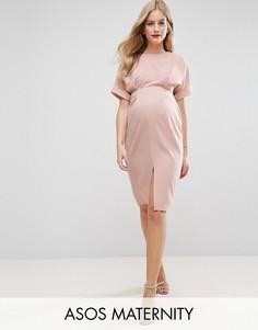 Платье с разрезом спереди ASOS Maternity - Розовый