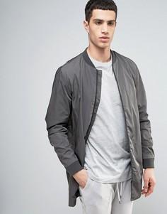 Удлиненная куртка‑пилот Selected Homme - Серый