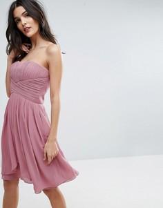 Розовое платье мини Y.A.S Molly - Розовый