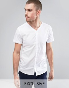 Узкая бейсбольная рубашка в строгом стиле Noak - Белый