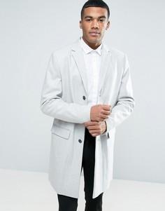 Серое шерстяное пальто New Look - Серый