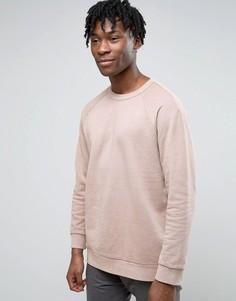 Свитшот с петельчатой изнанкой Weekday Grip - Розовый