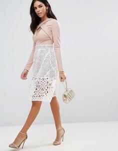Кружевная мини-юбка Glamorous - Белый