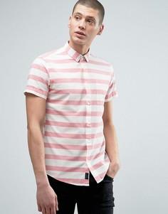 Рубашка в полоску Threadbare - Розовый