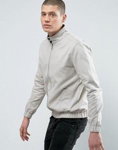 Легкая хлопковая куртка Харрингтон Threadbare - Stone