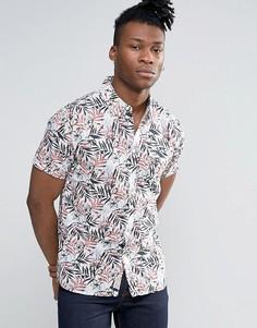Рубашка с короткими рукавами и тропическим принтом Pepe Jeans - Коричневый