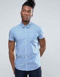Рубашка с принтом и короткими рукавами Pepe Jeans - Синий