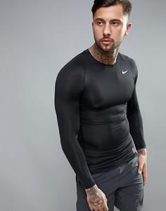 56b696ba Черный лонгслив с компрессионным эффектом Nike Training 703088-010 - Черный