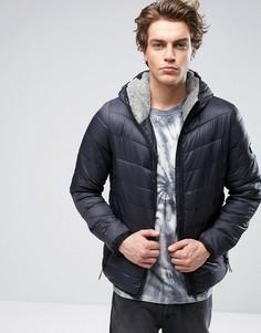 Дутая куртка с капюшоном Globe - Черный