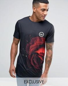 Черная футболка с розами Hype - Черный