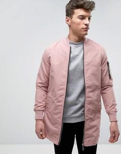 Длинная куртка Brave Soul - Розовый