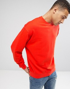 Оранжевый oversize‑свитшот ASOS - Красный