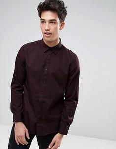 Бордовая рубашка в стиле вестерн классического кроя New Look - Красный