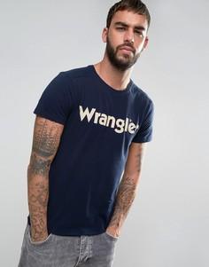 Футболка с логотипом Wrangler - Темно-синий