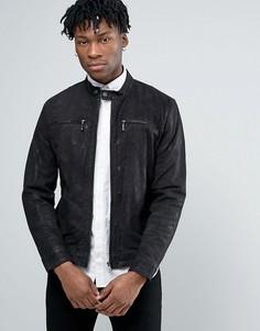 Кожаная куртка Pepe Jeans - Черный