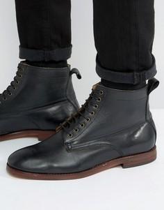 Кожаные ботинки на шнуровке Hudson Forge - Черный
