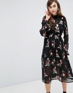 Платье миди с пайетками Sister Jane - Черный