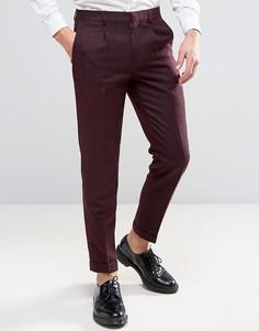 Бордовые узкие брюки Harry Brown Heritage - Красный