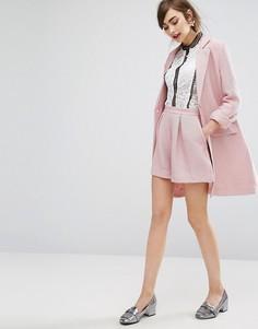 Комбинируемые креповые шорты E.F.L.A - Розовый