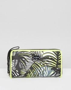 Кошелек с пальмовым принтом и молнией Pauls Boutique - Мульти