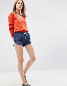 Синие джинсовые шорты для бега ASOS - Синий
