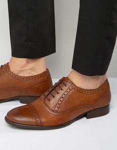 Кожаные оксфордские туфли Base London Raeburn - Рыжий