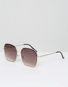 Квадратные солнцезащитные очки с оправой в стиле колор блок ASOS - Мульти