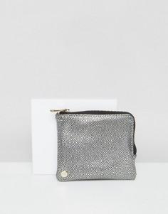 Серебристый кошелек для монет Mi-Pac - Черный