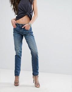 Джинсы в винтажном стиле с завышенной талией и отворотами G-Star 3301 - Синий