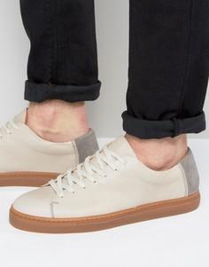 Кожаные кроссовки Selected Homme David - Бежевый