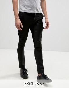 Облегающие строгие брюки-карго Heart & Dagger - Черный