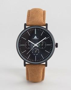 Часы с коричневым потертым ремешком ASOS - Коричневый